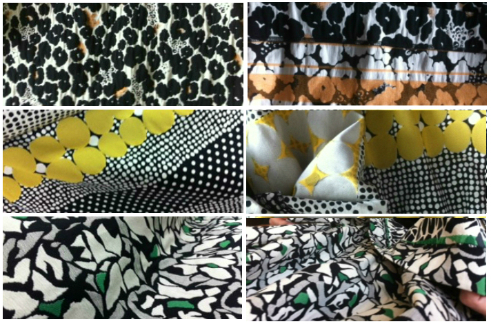 Beautiful jacquard from the fabric supplier in Bologna for happyskirtt. At the top: the Black Blossom. In the middle: the Yellow Jacq. At the bottom: the Green Jacq. The Kelly Yellow Jack is available now. The Kelly Black Blossom, the Hepburn and Monroe Green Jacq in 2 weeks time.