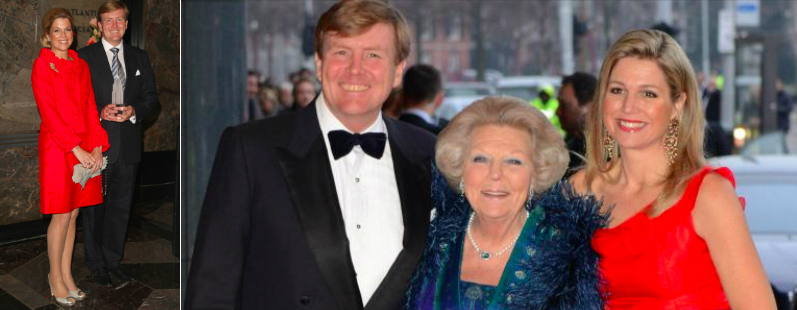 The old queen (Beatrix), the the new king (Alexander) and king's own queen (Maxima).