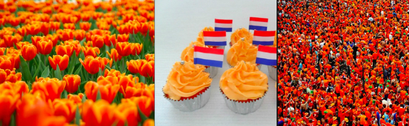 The country changes into a sea of orange when it is King's Day.